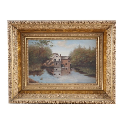Continental European School Landscape Oil Painting