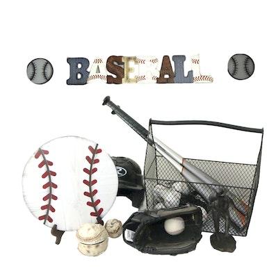 Assorted Baseball-Themed Decor