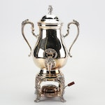"Sheffield Silver Co ""Burgundy"" Silver Plate Coffee Urn"