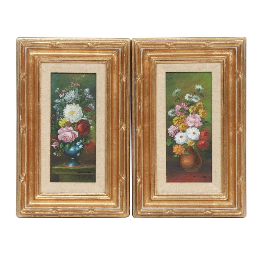 Nancy Lee Floral Still Life Oil Paintings