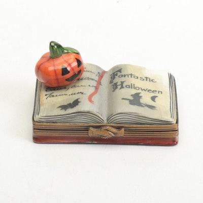 "La Gloriette Limoges Porcelain ""Fantastic Halloween"" Trinket Box"