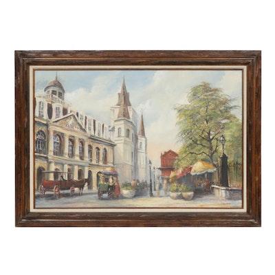 Napoleon European Street Scene Oil Painting
