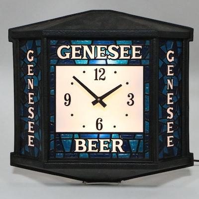 Genesee Beer Rathskeller Illuminated Clock, Vintage