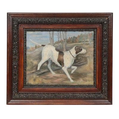Nancy Lee Goods Hunting Dog Oil Painting