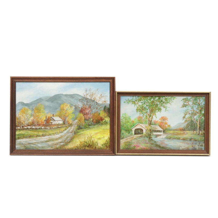 Antijuntti Rural Landscape Oil Paintings