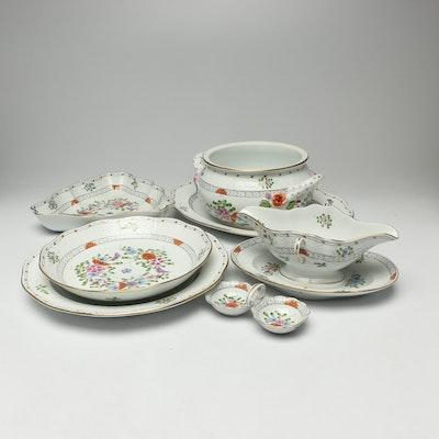 "Herend ""Waldstein Multicolor"" Porcelain Serveware,"