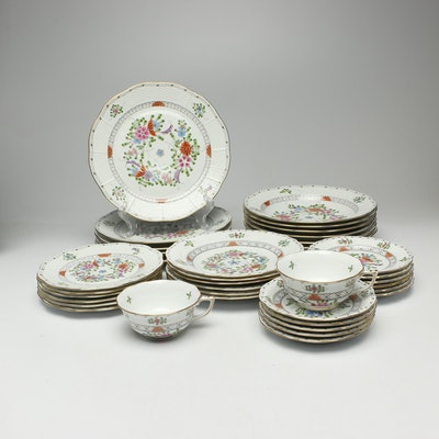 "Herend ""Waldstein Multicolor"" Porcelain Dinnerware, Late 20th Century"