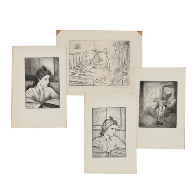 Margaret Sussman Etchings and Lithograph