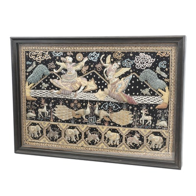 Burmese Hand Embroidered Kalaga Tapestry