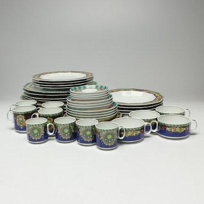 "Versace for Rosenthal ""Le Roi Soleil"" Porcelain Dinnerware, Service for Four"