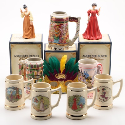 Anheuser-Busch and Disney Ceramic Beer Steins and Figurines, 1990s–2000s