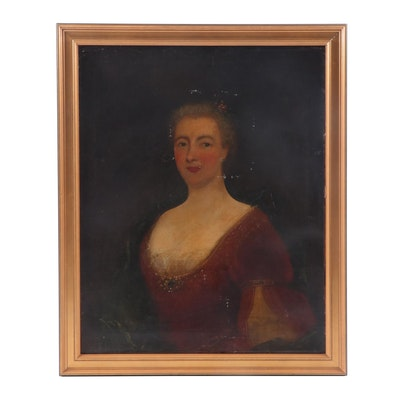 Late 18th Century Portrait Oil Painting