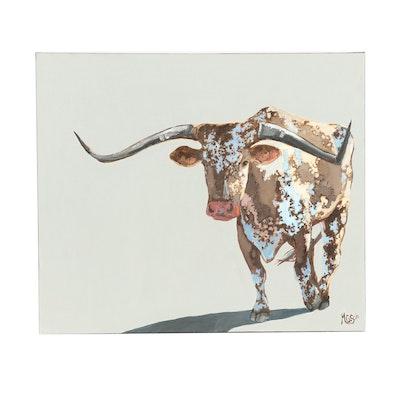 "Monica Cascio Oil Painting ""Bad Guy"""