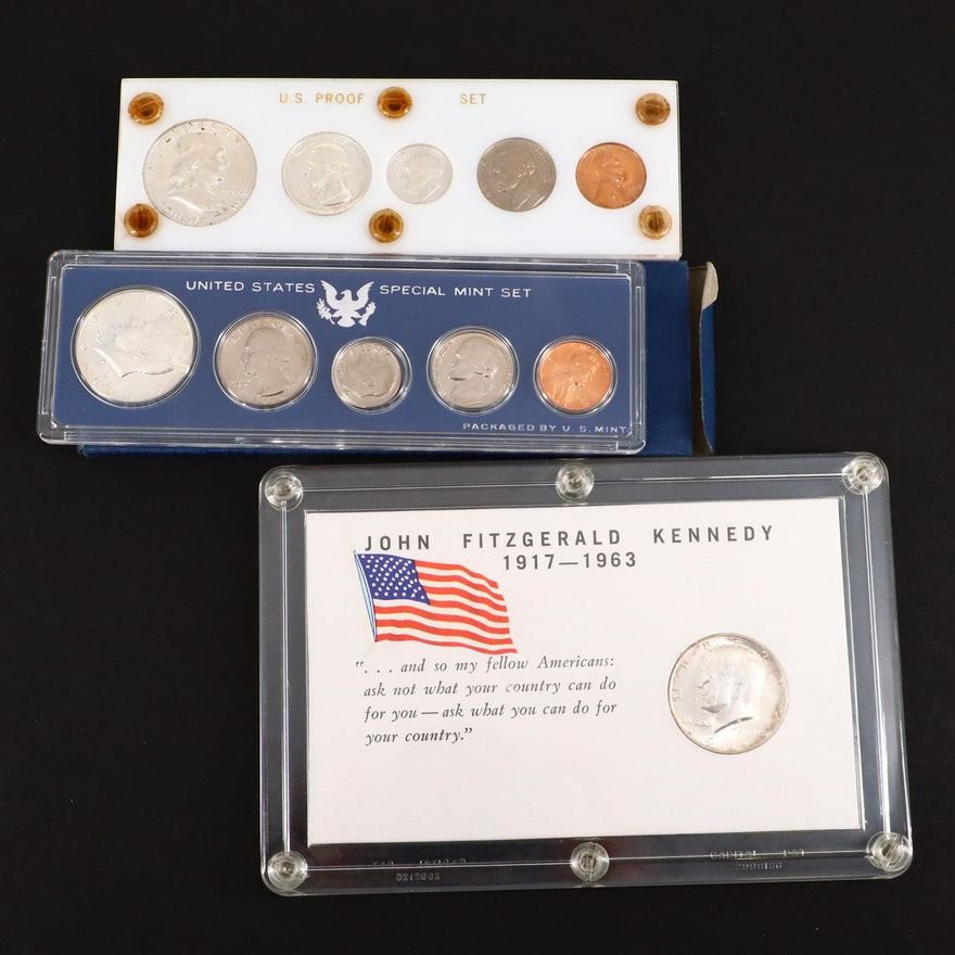 Group of American Coins Including a 1959 Proof Set