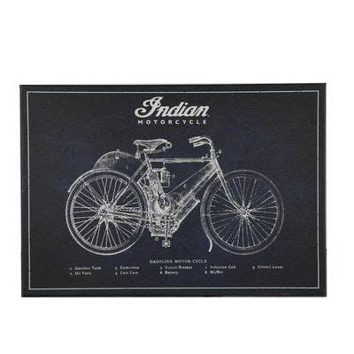Indian Motorcycle Parts Diagram Giclée