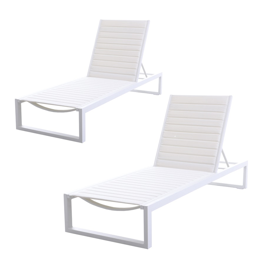 """Matthew Hilton for Case """"Eos"""" Chaise Lounge Chairs in White"""