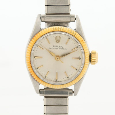 Vintage Rolex Oyster Perpetual 18K Gold and Stainless Steel Wristwatch, 1964