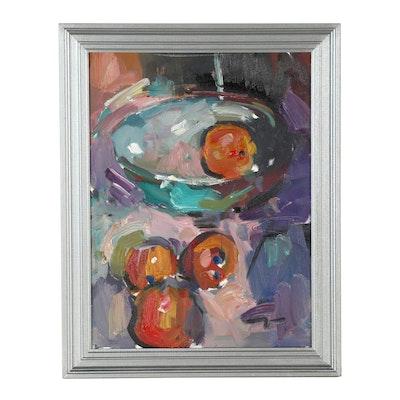 "Jose Trujillo Oil Painting ""Oranges"""