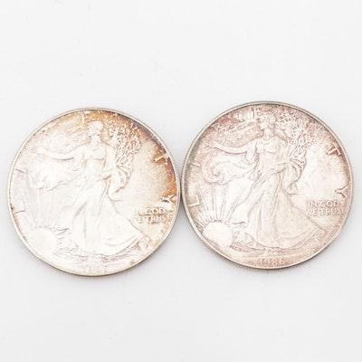 1986 American Silver Eagle Dollars