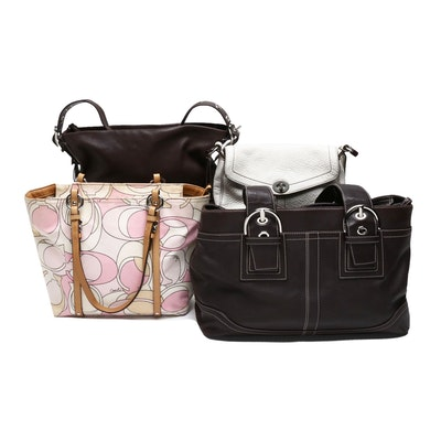 Coach Dark Brown Leather Soho Tote and Other Coach Handbags