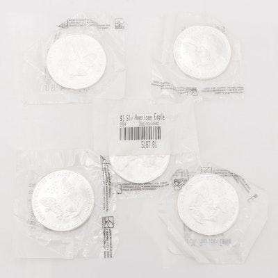 2000-2004 Silver Eagle Dollars