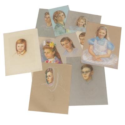 Edrie Leah Frandzel Portrait Pastel Drawings