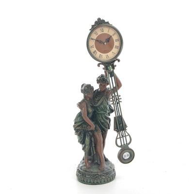 Roman Figural Quartz Mantel Clock