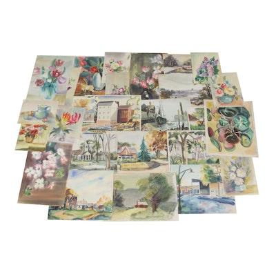 Edrie Leah Frandzel Watercolor Paintings