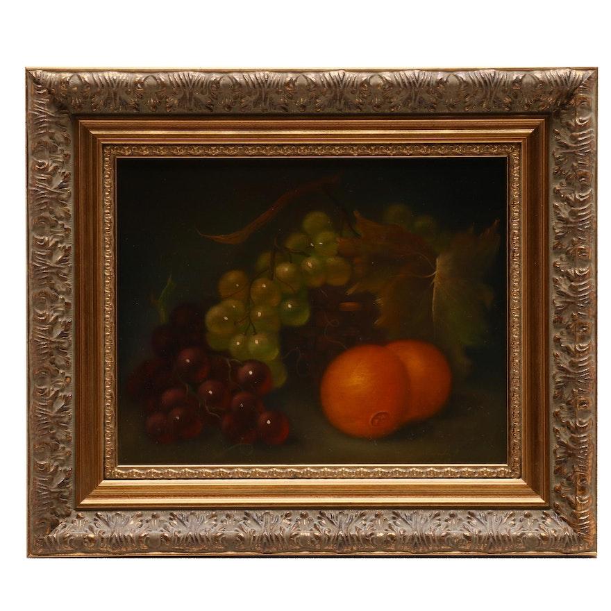 Still Life Oil Painting of Fruit