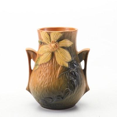 "Roseville Pottery ""Clematis"" Vase, circa 1944"