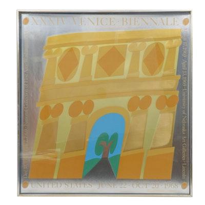 "Carol Sommers Serigraph ""XXXIV Venice Biennale"""