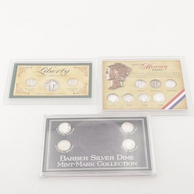 Mercury Dime and Silver Dime Coin Collections