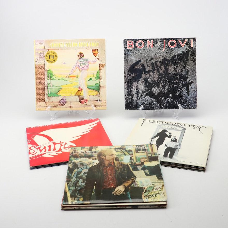 Vinyl Rock Records Including Aerosmith, Fleetwood Mac, Bon Jovi and More