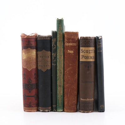 Late 19th Century Illustrated Poetry Compilations Including Lord Byron