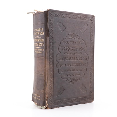 "1876 ""Dr. Chase's Recipes: or Information for Everybody"" by A. W. Chase"
