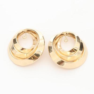 14K Yellow Gold Earring Jackets