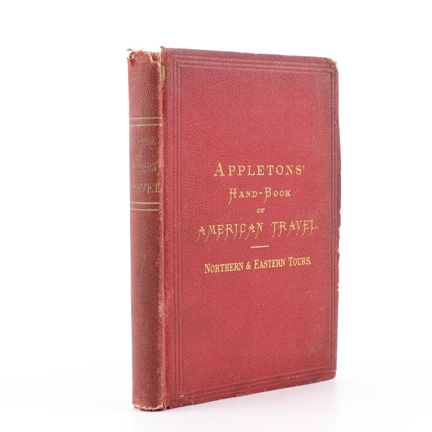 """1874 """"Appletons' Hand-Book of American Travel, Northern & Eastern Tours"""""""