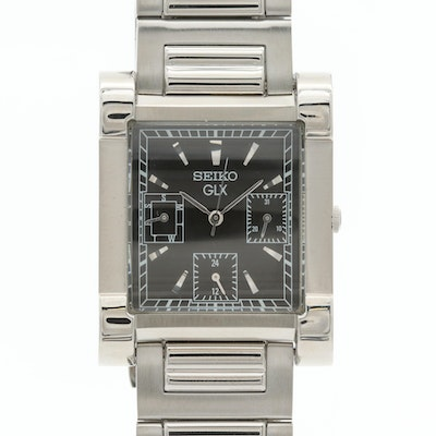 Seiko GLX Stainless Steel Wristwatch With Day and Date
