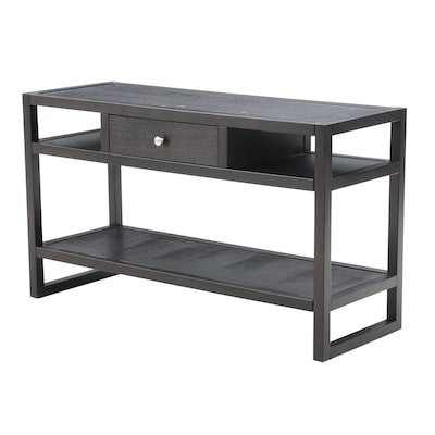 Black Lacquered Television Console Table, Contemporary