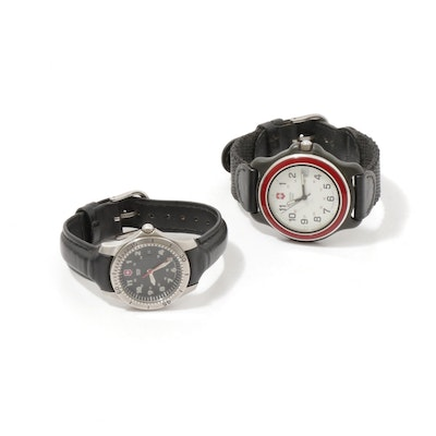 Swiss Army Stainless Steel 330ft Water Resistant Wristwatches