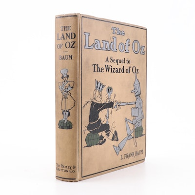 """Circa 1914 """"The Land of Oz: A Sequel to The Wizard of Oz"""" by L. Frank Baum"""