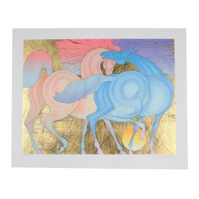 "Guillaume Azoulay 2007 Serigraph ""Tryst"""