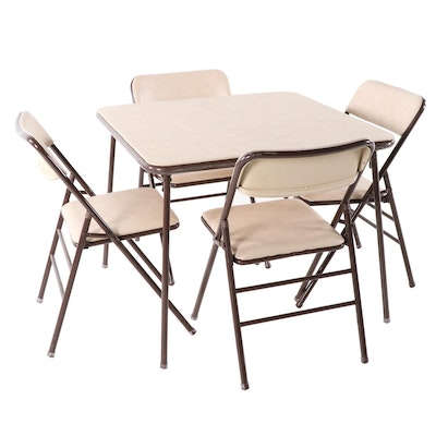 Cosco Table and Four Chairs Folding Bridge Set