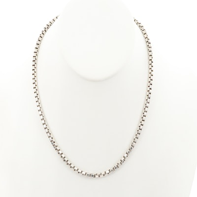 Tiffany & Co. Sterling Silver Wide Box Chain Necklace