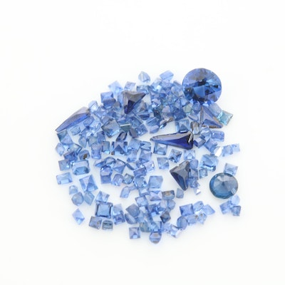 Loose 3.33 CTW Synthetic Sapphire and Sapphire Gemstones