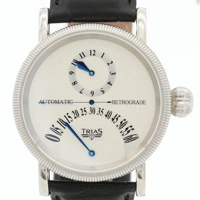 Trias Retrograde Stainless Steel Automatic Wristwatch