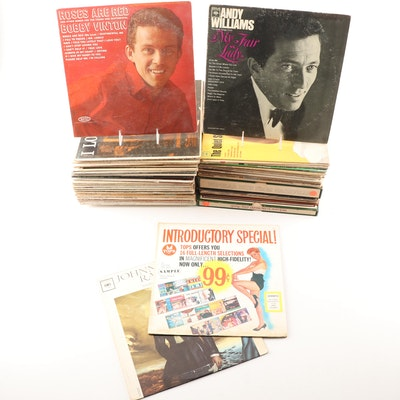 Easy Listening LP's Featuring Andy Williams, Bobby Vinton, Johnny Mathis, More