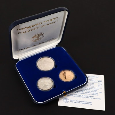 1987 Israel Three-Coin Commemorative Coins Set