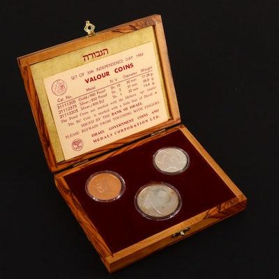 1983 Israel Three-Coin Commemorative Valour Coin Set