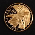 1987-W $5 U.S. Constitution Gold Commemorative Proof Coin